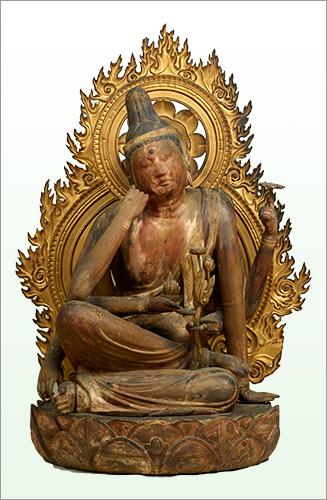 Seated Nyoirin Kannon Bosatsu (Cintamanicakra), Important Cultural Property