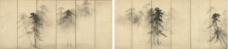 国宝 松林図屛風 長谷川等伯筆 安土桃山時代・16世紀 東京国立博物館蔵