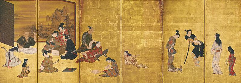 国宝 風俗図?風(彦根?風) 江戸時代・17世紀 滋賀・彦根城博物館蔵