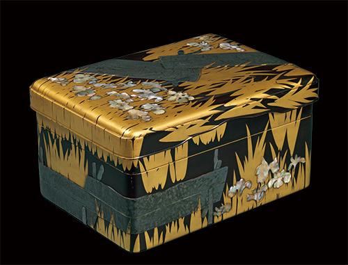 国宝 八橋蒔絵螺鈿硯箱 尾形光琳作 江戸時代・18世紀 東京国立博物館蔵⑬