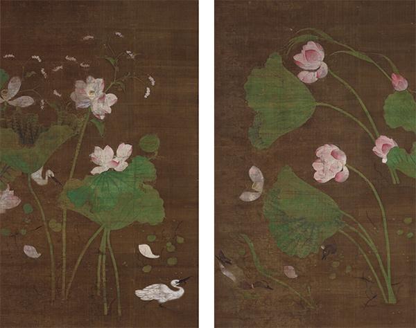 重要文化財 蓮池水禽図 江戸時代・17世紀 東京国立博物館蔵