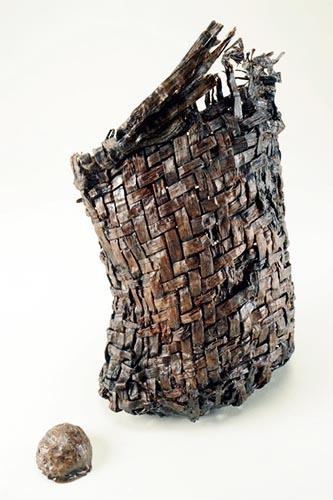 重要文化財 木製編籠(あみかご)縄文ポシェット