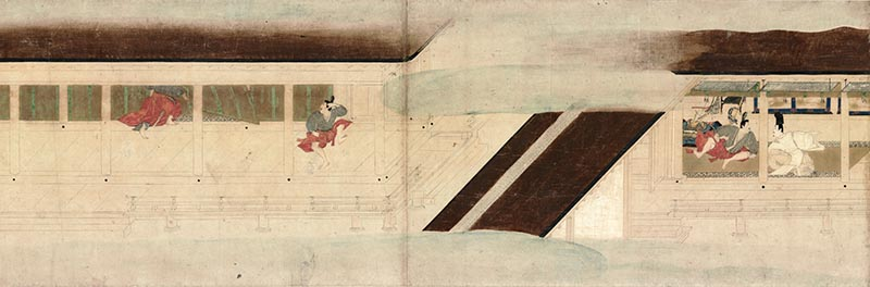 Narrative Picture Scroll of the Chronicle of the Heiji Civil War: The Removal of the Imperial Family to Rokuhara