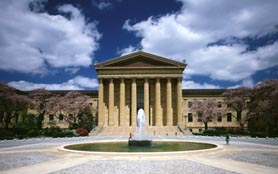 Philadelphia Museum of Art, East Entrance.