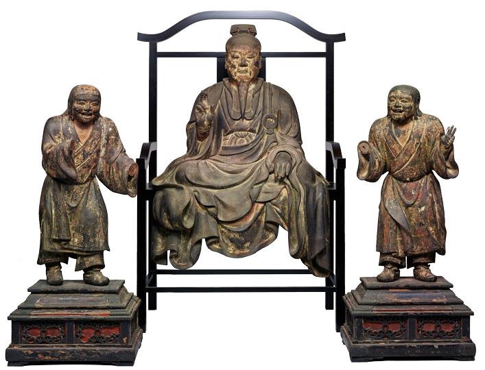 重要文化財 傅大士坐像および二童子立像