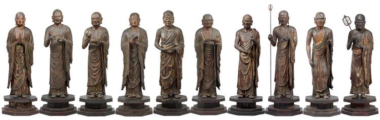 重要文化財 十大弟子立像