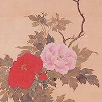 花鳥十二ヶ月図(4月・部分) 酒井抱一筆 江戸時代・文政6年(1823) 宮内庁三の丸尚蔵館蔵