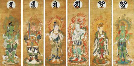 国宝 十二天屛風(じゅうにてんびょうぶ)