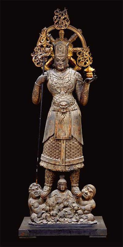 国宝 兜跋毘沙門天立像(とばつびしゃもんてんりゅうぞう)
