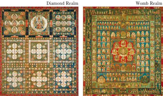 国宝 両界曼荼羅図(りょうかいまんだらず)