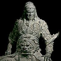 関羽像(部分) 明時代・15~16世紀 新郷市博物館蔵