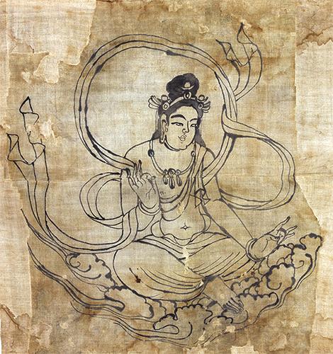 Ink Image of Bodhisattva