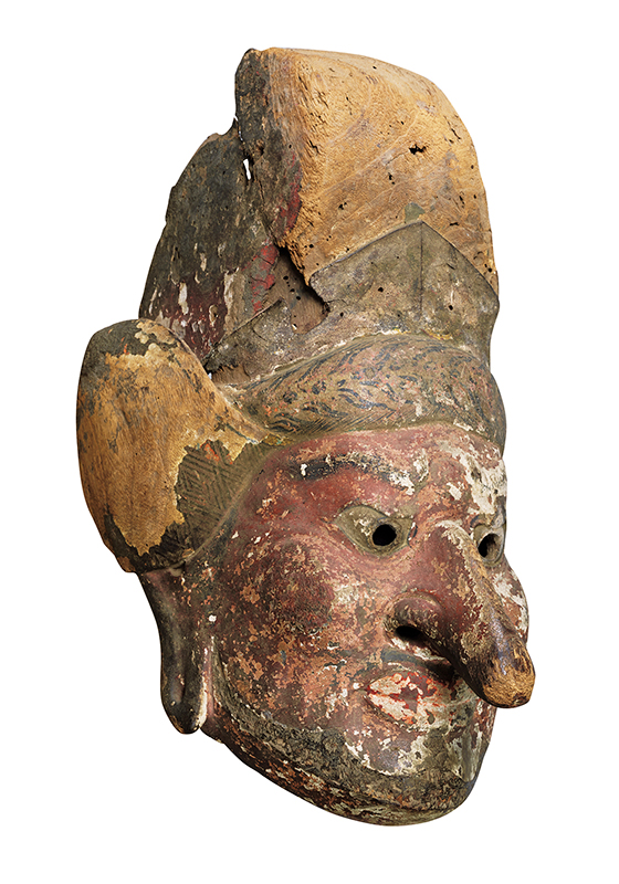 Gigaku Mask of Suiko-o (Drunken Persian King)