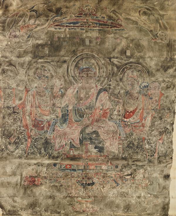 法隆寺金堂壁画(模本)第1号壁 釈迦浄土図