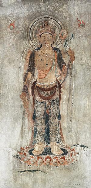 法隆寺金堂壁画(再現壁画) 第12号壁 十一面観音菩薩像