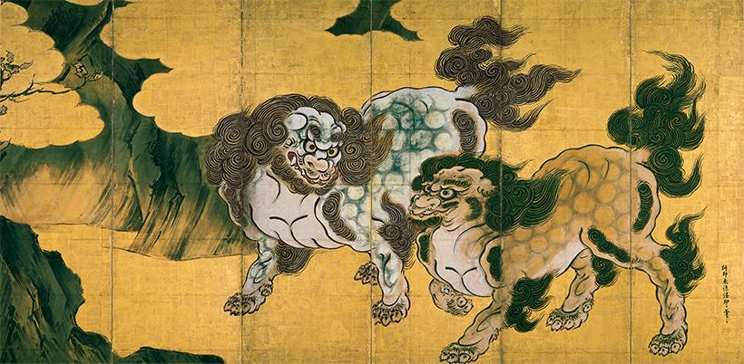 唐獅子図屛風(からじしずびょうぶ)