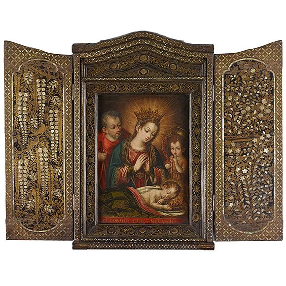 重要文化財 花鳥蒔絵螺鈿聖龕(かちょうまきえらでんせいがん)