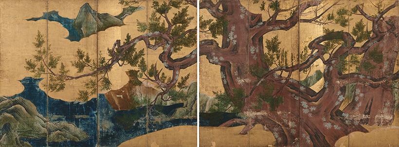 国宝 檜図屛風(ひのきずびょうぶ)