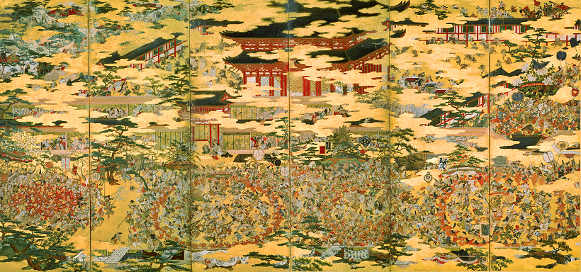 重要文化財 豊国祭礼図屛風(ほうこくさいれいずびょうぶ)