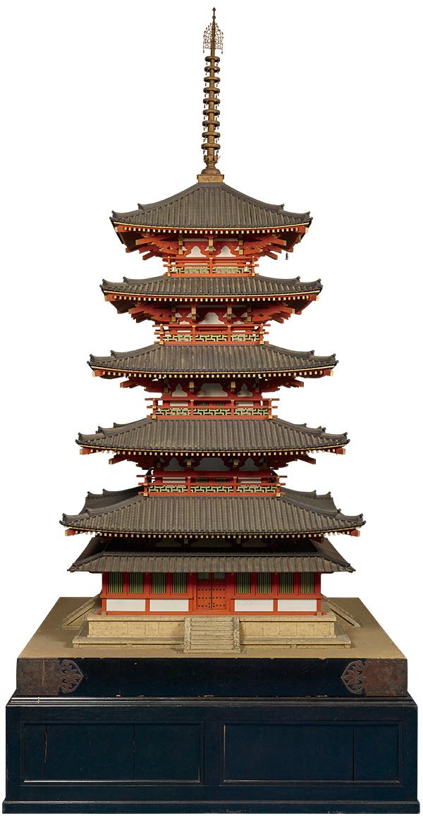 法隆寺五重塔 10分の1模型
