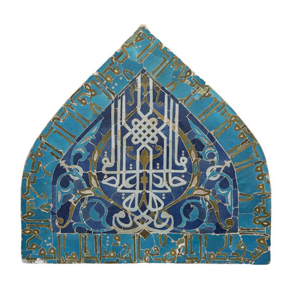 Monumental mihrab panel