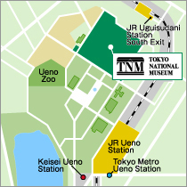Tokyo National Museum Map