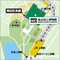 Guide map of Kuroda Memorial Hall and the area around