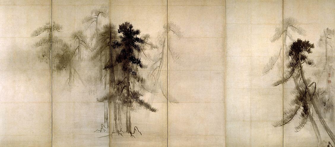 「松林図屏風」の画像検索結果