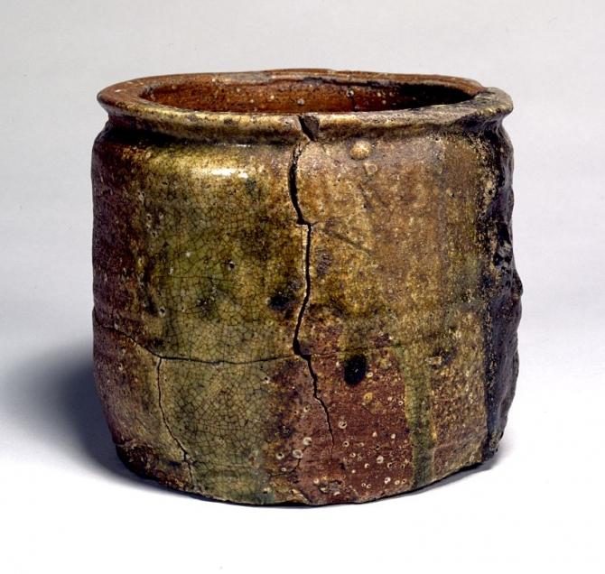 "Image of ""Water jar, Shigaraki Ware."""