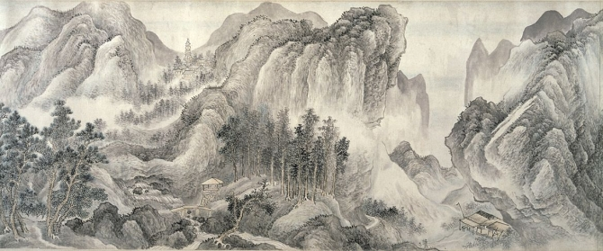 """Image of """"View over streams and mountains."""""""