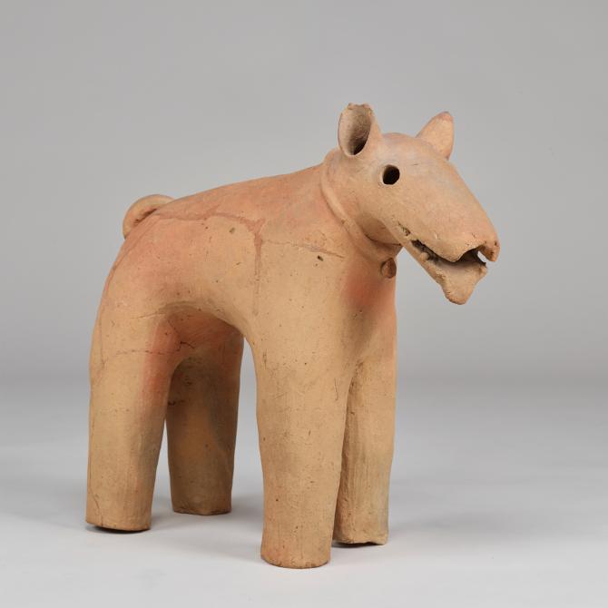 "Image of ""Dog(terra-cotta tomb figurine)."""