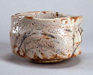 """Image of """"Tea bowl, shino type, Mino Ware."""""""