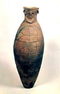 """Image of """"Jar with Human Face Ornament"""""""