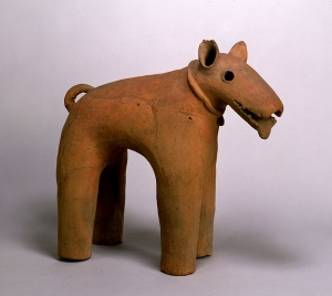 "Image of ""Dog(terra-cotta tomb figurine)."""