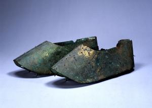 "Image of ""Gilt bronze shoes."""