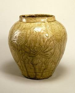 "Image of ""Large-mouthed jar, Seto Ware."""