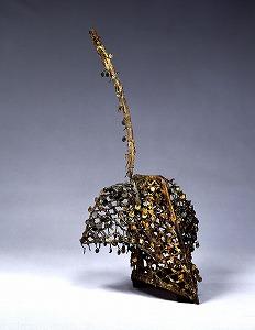 "Image of ""Headgear, gilt bronze."""