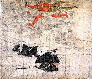 "Image of ""Kitano Tenjin Engi (legends about the origin of Kitano Tenjin Shrine), Koan era version."""