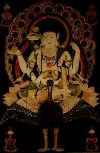 """Image of """"Kujaku Myoo (Mahamayuri)."""""""