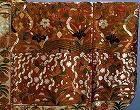 『紅白段草花短冊八橋模様縫箔(こうはくだんくさばなたんざくやつはしもようぬいはく)』の画像