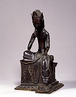 """Image of """"Seated Bodhisattva with one leg pendent."""""""