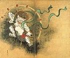 "Image of ""Wind and Thunder Gods, by Ogata Korin, Edo period, 18th century (detail)"""