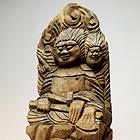 "Image of ""Seated Ryomen Sukuna, By Enku, Edo period, 17th century, Senkouji, Gifu"""