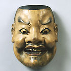 """Image of """"Noh Mask, Otenjin type, Formerly preserved by Konparu School, Nara, Muromachi period, 15th century (Important Cultural Property)"""""""