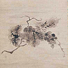"""Image of """"Grapes (detail), By Motsurin Joto, Muromachi period, 1491 (Important Art Object)"""""""