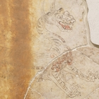 "Image of ""White Tiger, of the Four Divine Animals,Mural Paintings from Kitora Tumulus: West Wall,Asuka period, 7th-8th century (Lent by Ministry of Education, Culture, Sports, Science and Technology)"""