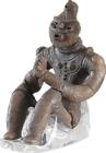 "Image of ""Dogu Figurine, Known as the ""Figure with clasped palms"", Late Jomon period, 2000–1000 BC, Excavated from Kazahari site No.1 in Hachinohe, Aomori, Korekawa Archaeological Institution, Hachinohe, Aomori (National Treasure)"""
