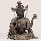 """Image of """"Seated Nyoirinkannon Bosatsu (Cakravarti-cintamani), Kamakura period, 13th century"""""""