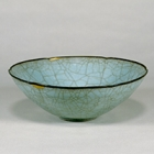"""Image of """"Bowl with Foliate Rim, Celadon glaze, Guan ware, China, Southern Song dynasty, 12th - 13th century (Important Cultural Property, Gift of Dr. Yokogawa Tamisuke)"""""""