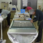 『NPO法人文化財保存支援機構とともに奥州市埋蔵文化財センターで行った拓本の安定化処理作業』の画像